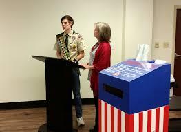 Eagle Scout Flag Eagle Scout Gabe Caldwell Presents Us Flag Retirement Box West