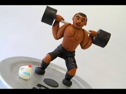 weight lifting cake topper workout themed birthday cake