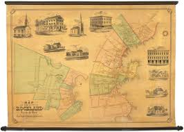 Map Maine A Scarce And Lovely Map Of Rockland Maine Rare U0026 Antique Maps