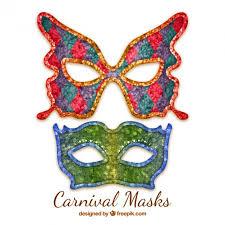carnaval masks decorative carnival masks vector premium