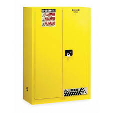 Yellow Flammable Storage Cabinet Justrite Flammable Safety Cabinet 45 Gal Yellow 894500 Zoro