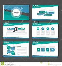 blue and green multipurpose infographic presentation brochure