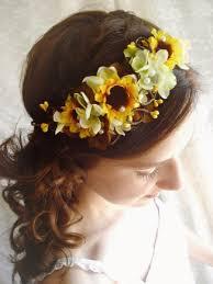 sunflower headband sunflower wedding sunflower headband sunflower headpiece yellow