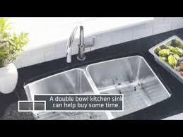 double bowl kitchen sink a double bowl kitchen sink makes dishwashing easier youtube