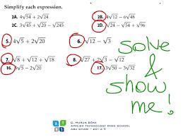 addition u0026 subtraction unlike radicands algebra math