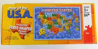 usa map jigsaw puzzle by hamilton grovely 3 cardinal industries usa map puzzle co uk toys