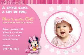 birthday invitation cards samples first birthday best 25 1st