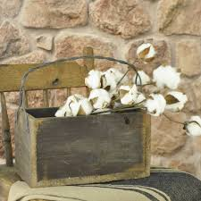 Country Primitive Home Decor Cotton Pod Stem Piper Classics