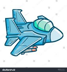 funny cool jet plane flying cartoon stock vector 639358624