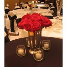Red And White Centerpieces For Wedding by Wedding Flowers Reception White Centerpiece Red Black