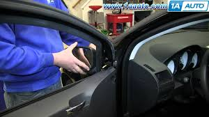 how to install replace broken side rear view mirror 2007 12 dodge