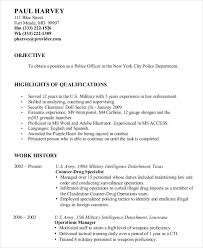 resume format download in word military resume 8 free word pdf documents download free