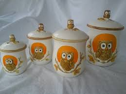 owl canisters for the kitchen canisters marvellous owl kitchen canisters large metal canister