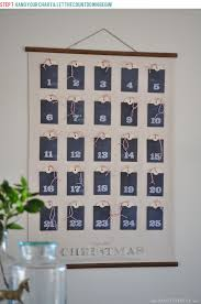 the painted hive diy advent calendar wall chart