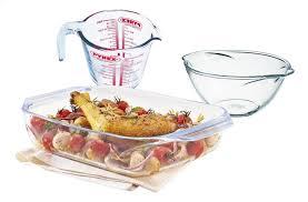 doseur cuisine pyrex bol mélangeur avec plat à four et verre doseur collishop