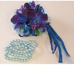 royal blue corsage wrist corsage royal blue dendrobium orchids in bloomington il