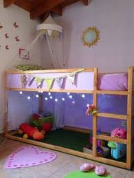 ikea kura loft bed panels are reversible and can show white