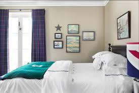 Navy Blue Plaid Curtains Plaid Curtains Contemporary Bedroom Burnham Design