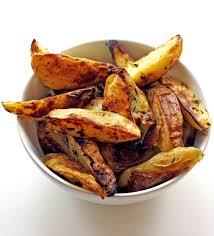 Mediterranean Style Food - lemon and thyme potato wedges olive tree kitchen