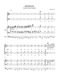 easter choral alleluia easter choral fanfare