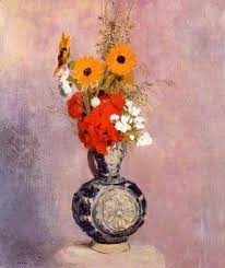 Bouquet Of Flowers In Vase Odilon Redon The Complete Works Bouquet In A Persian Vase
