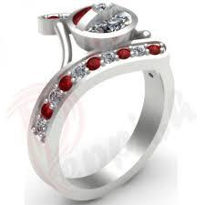 Superhero Wedding Rings by 18 Best Ruby Red Cz Diamond Rings By Peppish Images On Pinterest