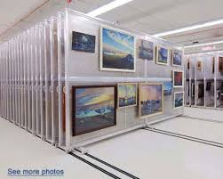 spacesaver art racks rolling artwork panels