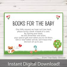 baby shower invitation insert woodland books for baby baby