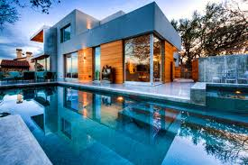 modern house with swimming pool collection and designs ideas home
