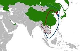 Korea Map Asia by File North Korean Diaspora And Defector Routes In Asia Simple Map