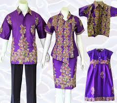 gambar model baju batik modern lebaran batik keluarga muslim terbaru murah