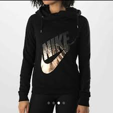 sold on rose gold nike rally cowlneck hoodie gray ombre