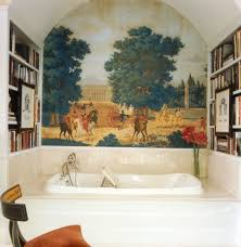 French Country Interior Design Bathroom A French Country French Country Bookcase Bathroom Traditional With Arched Ceiling