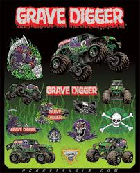 picture of grave digger monster truck d u0027cor grave digger monster jam decal sheets available at