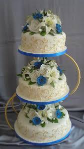 wedding cakes by franziska blue and gold wedding cake design