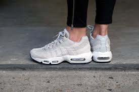 light shoes for women comfortable women shoes nike air max 95 pale grey summit white