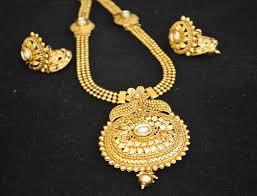long flower necklace images Reeti fashions gold tone phulkari round motif long haram style jpg