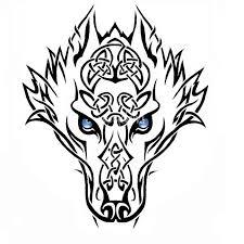 tribal wolf by erin strunk