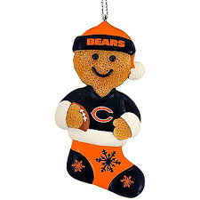 chicago bears 2012 gingerbread man christmas tree ornament for