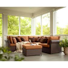 hampton bay cibola 6 piece patio sectional seating set with nutmeg