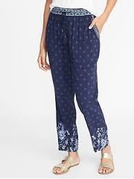 gap patterned leggings capri pants culottes for women old navy