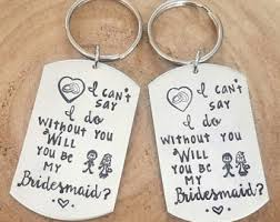 asking bridesmaid gifts asking bridesmaid etsy
