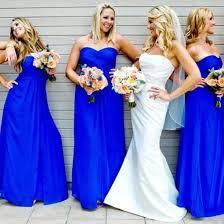 a line sweetheart royal blue chiffon bridesmaid dress custom made