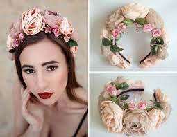 flower hairband and feminine floral headbands from ukraine