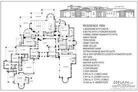 luxury home plans 6 bedrooms bedroom ranch house 8000 square feet