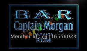 captain morgan neon bar light la490 bar captain morgan rum led neon light sign in plaques signs
