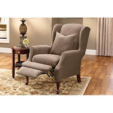 slipcover for recliner chair wingback recliner chair covers wonderful wingback recliner chair