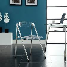 amazon com lexmod telescoping chair in clear chairs