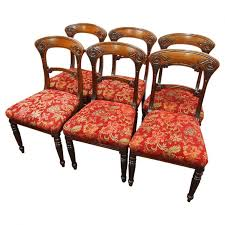 William Iv Dining Chairs Set Of 6 William Iv Mahogany Dining Chairs Georgian Antiques