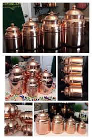 ebay kitchen canisters 4pc set copper kitchen canisters graduated large small spice jar